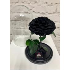 Роза в колбе (черная)