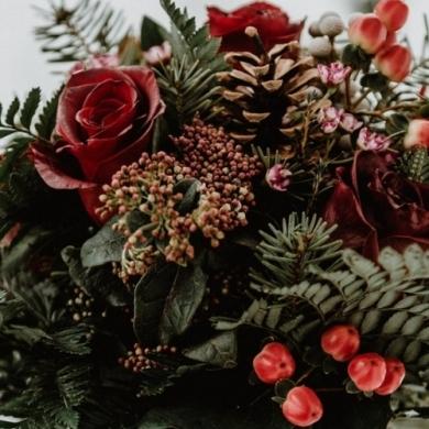 10 идей для букетов и композиций на Новый год
