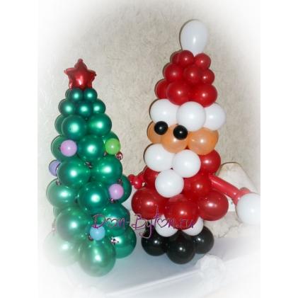 Санта с елочкой