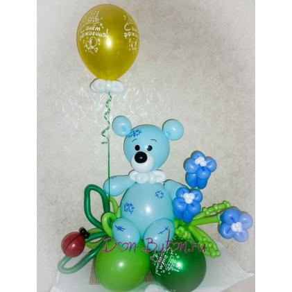 Мишка Тедди (голубой)