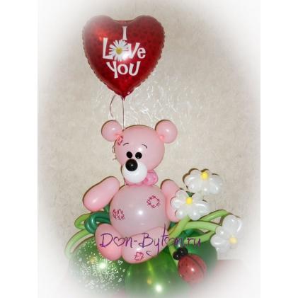 Мишка Тедди (розовый)