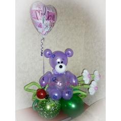 Мишка Тедди (фиолетовый)